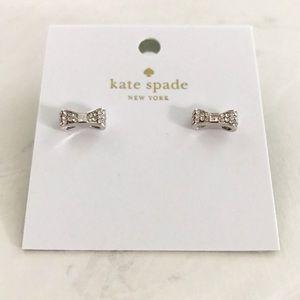 Bow Stud Earrings, Silver, Kate Spade